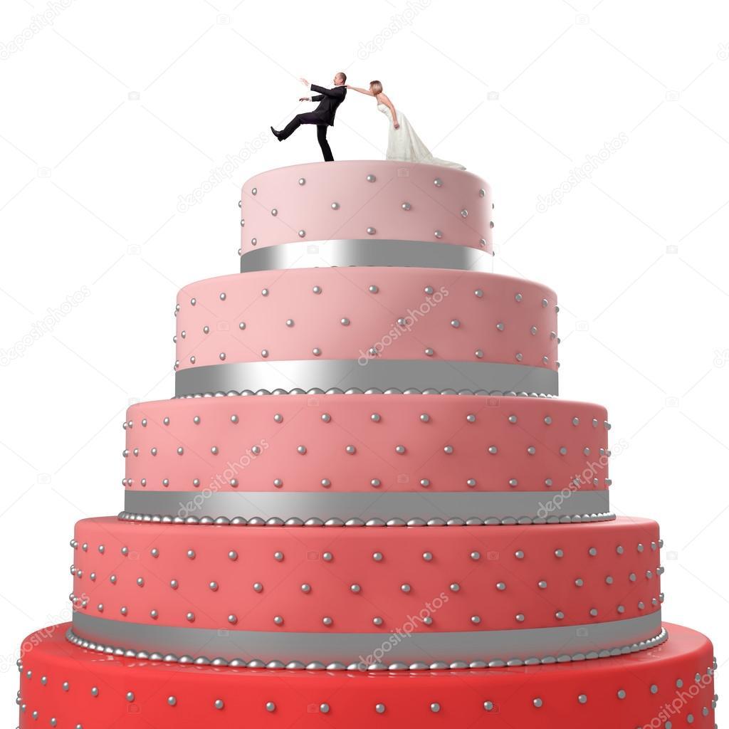 Funny Wedding Cake Stock Photo C Jukai5 56048583