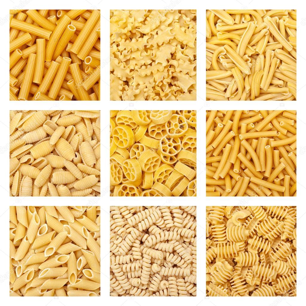 Sfondo di pasta italiana foto stock jukai5 87372614 - Diversi tipi di pasta ...