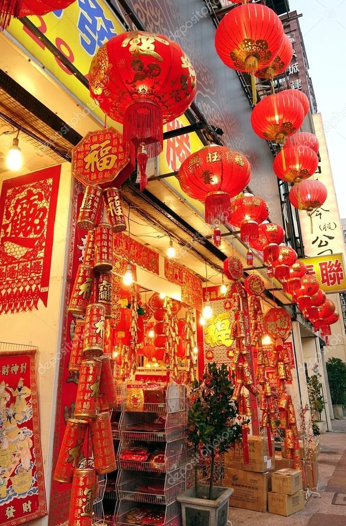 Großen Store verkauft Chinesisches Neujahr-Dekorationen ...
