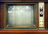 Fotografie Retro Style Television Set with Bad Picture