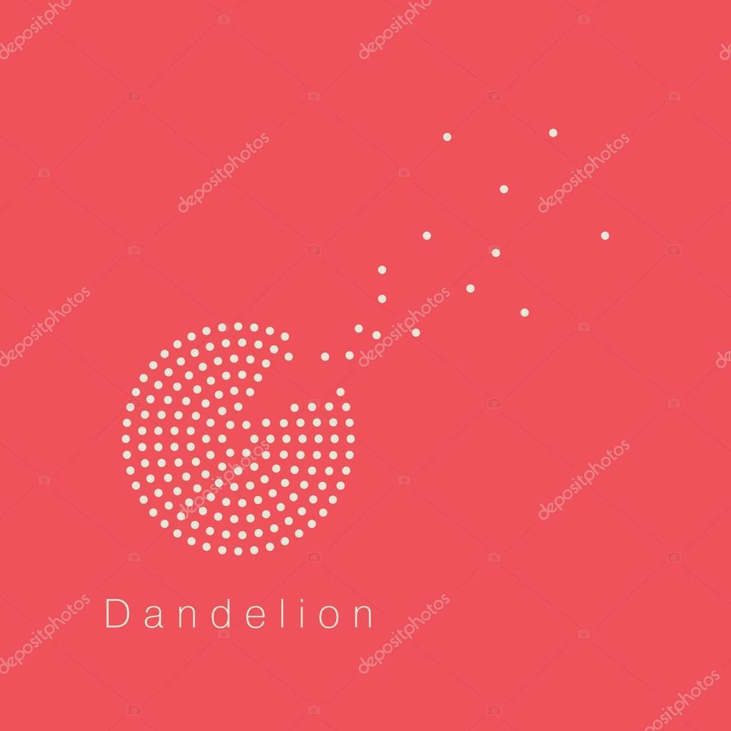 dandelion vector logo design template stock vector greeek 55178389