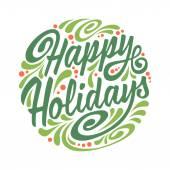 Cartolina dauguri di feste con la sfera di Natale astratto di doodle. Buone Feste