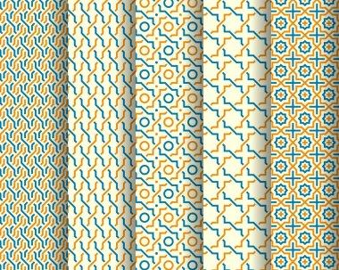 Set of Arabic seamless patterns