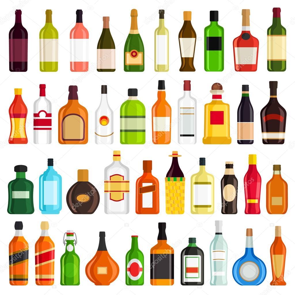 Alkoholische Getränke-Set — Stockvektor © missbobbit #116416466
