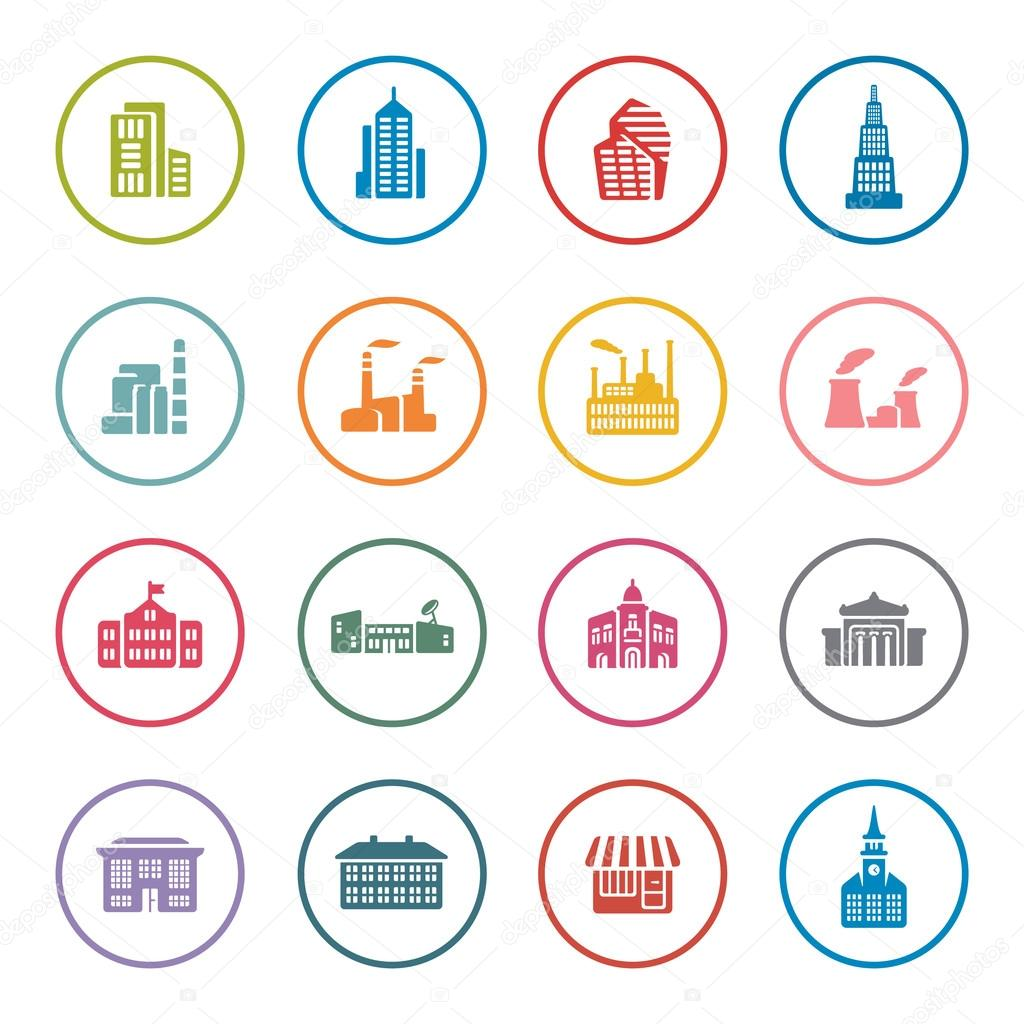 Architecture icon set stock vector missbobbit 61879055 for Architecture icon