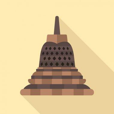 Borobudur flat icon