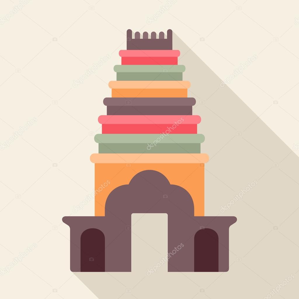 Hindu Tempel Symbol Stockvektor Missbobbit 67247027