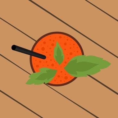 Vegetable smoothie top