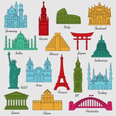 World Landmarks symbols