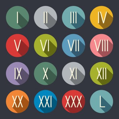 Roman numerals  icons