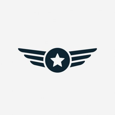 Aviation wings icon