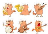 Fotografie Satz von niedlichen Cartoon Katzen