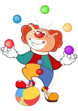 Cat Clown Juggler