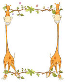 Frame with giraffes