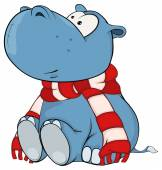 Photo Hippopotamus in scarf
