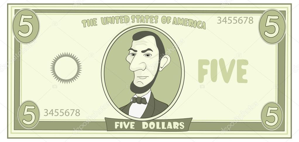 Dólares Americanos — Vector De