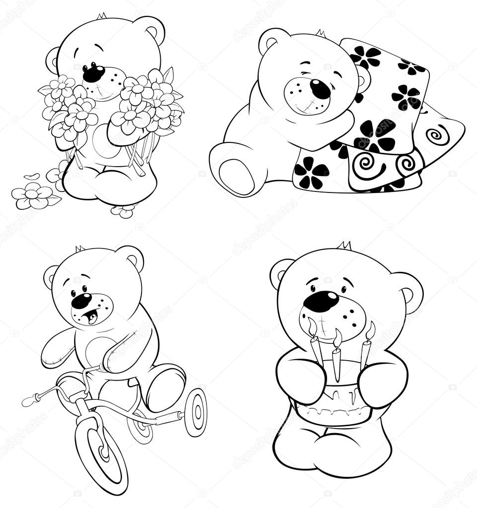conjunto de osos — Archivo Imágenes Vectoriales © liusaart #52515303