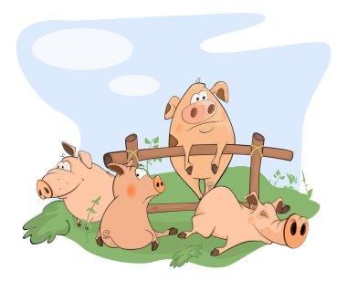 Little cartoon pigs