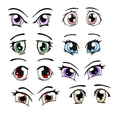 Set of the drawn eyes