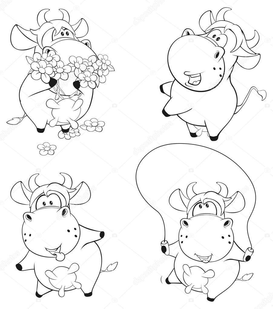 Vacas para colorear libro — Archivo Imágenes Vectoriales © liusaart ...