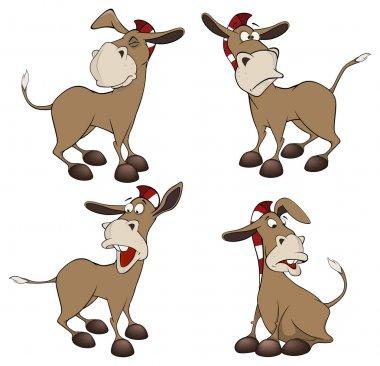 A little burro. Caroon set