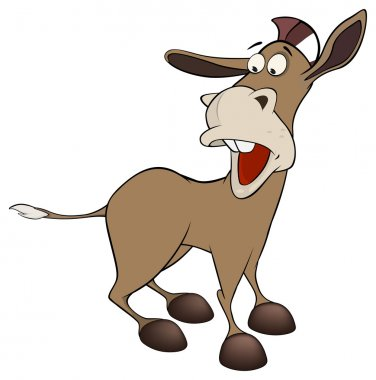 A little burro. Caroon