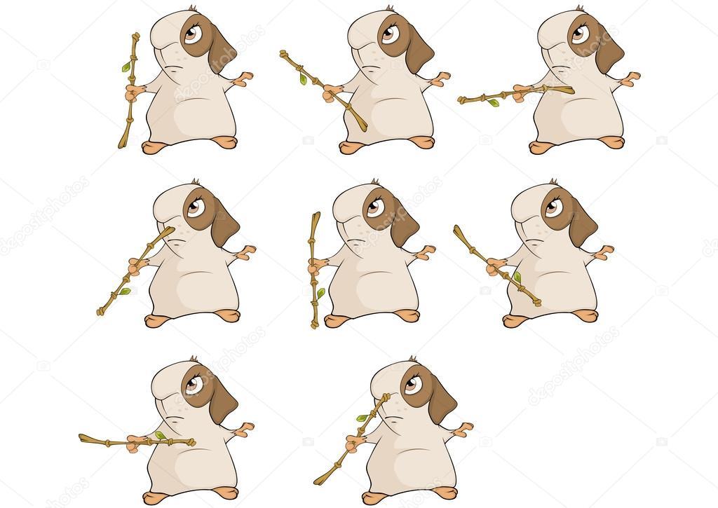 dibujos animados de conejillo de Indias — Vector de stock © liusaart ...