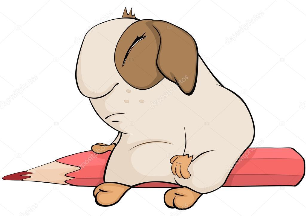 Marrón de conejillo de indias dibujos animados — Archivo Imágenes ...