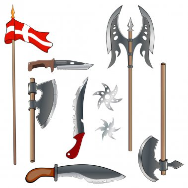 A military weapon set