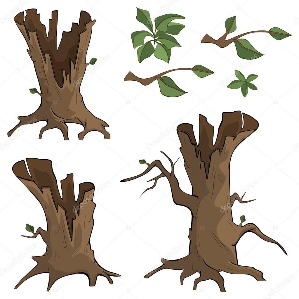Dibujos Arboles Secos Conjunto De árboles Secos Vector De Stock