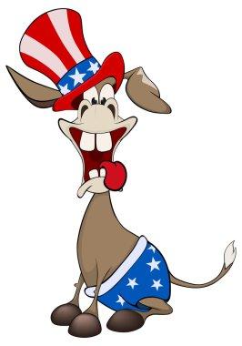 Cartoon american donkey