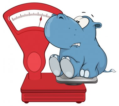 Hippo and weighing scale