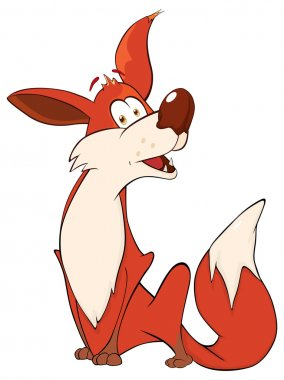 Red fox cartoon