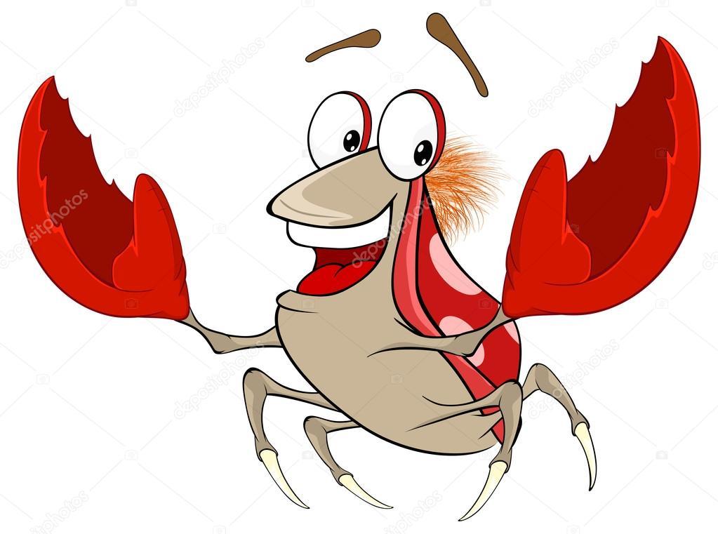 かわいい赤いカニのイラスト ストックベクター Liusaart 71415713