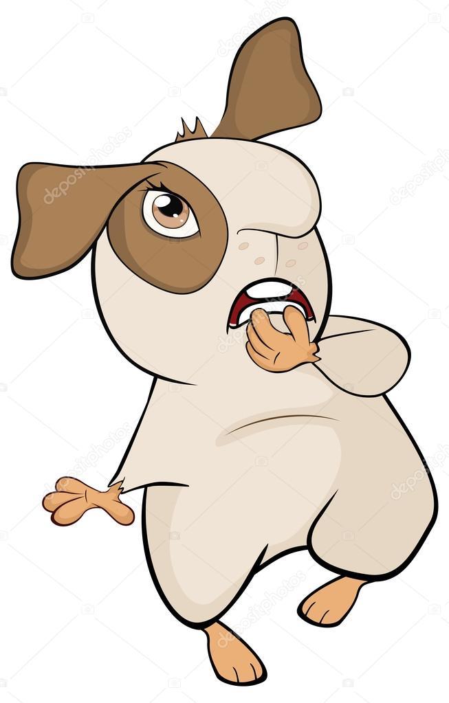Dibujos animados divertida marrón de conejillo de Indias — Archivo ...