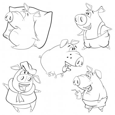 Cute pigs cartoon