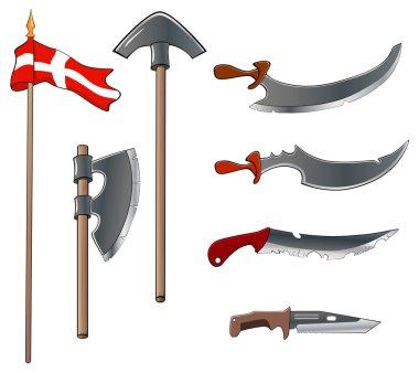 Ancient weapons set