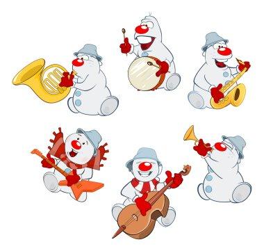 Set of hristmas Snowmen