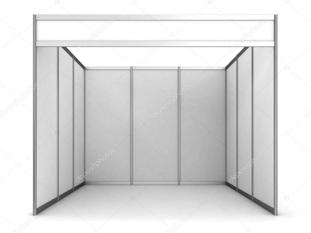 Exhibition Booth Blank : Blank exhibition stand — stock photo wir man
