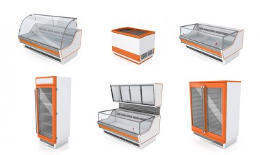 Showcases refrigerators for shops