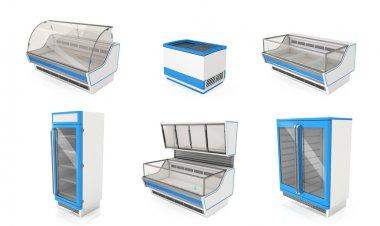 Showcases refrigerators for shops