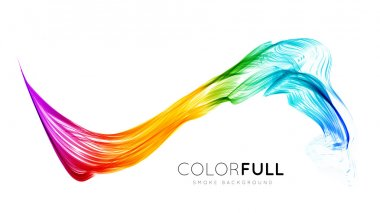 Abstract colorful background. Spectrum wave. Vector illustration stock vector