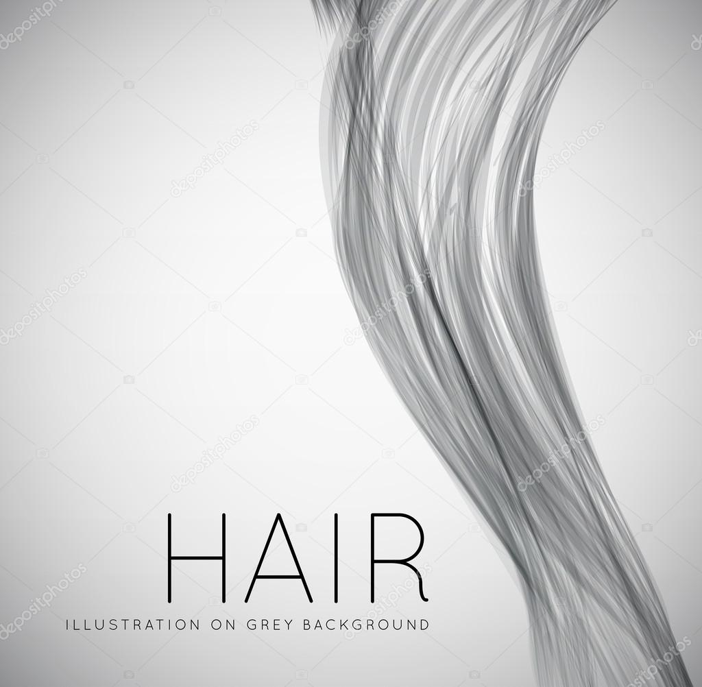Closeup of long human hair