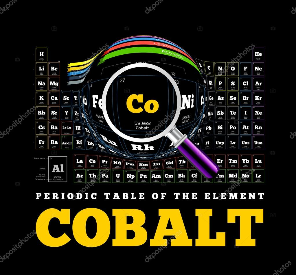 Periodic table of the element cobalt co stock vector mpavlov periodic table of the element cobalt co vector illustration on black vector by mpavlov gamestrikefo Image collections