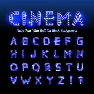 Retro cinema font