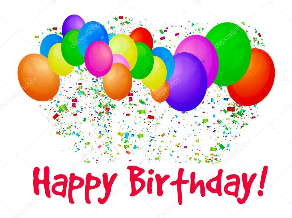 ballonger grattis Grattis på födelsedagen med ballonger — Stock Vektor © mpavlov  ballonger grattis
