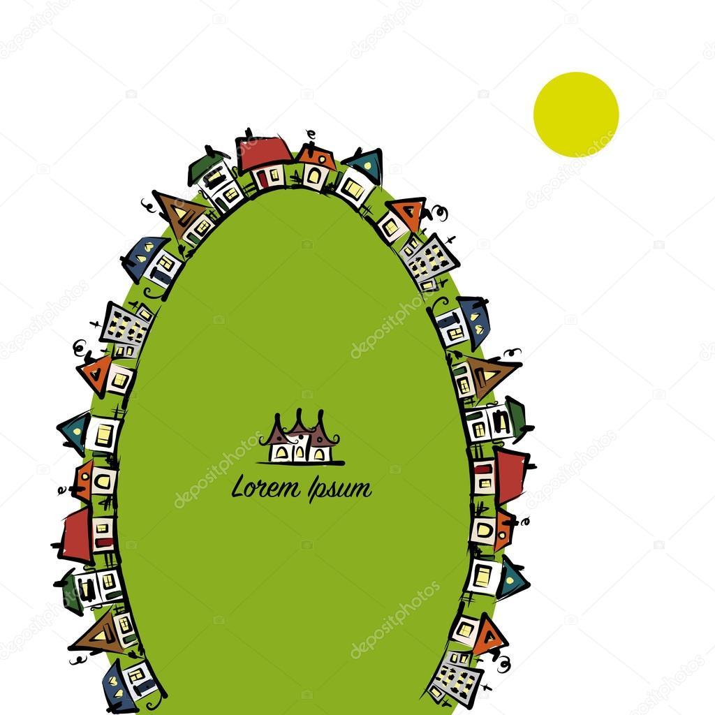 Marco de paisaje urbano, Resumen casas bosquejo para su diseño ...