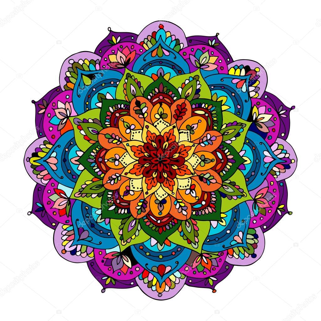 Ornamento del Mandala patrn de colores para tu diseo Archivo