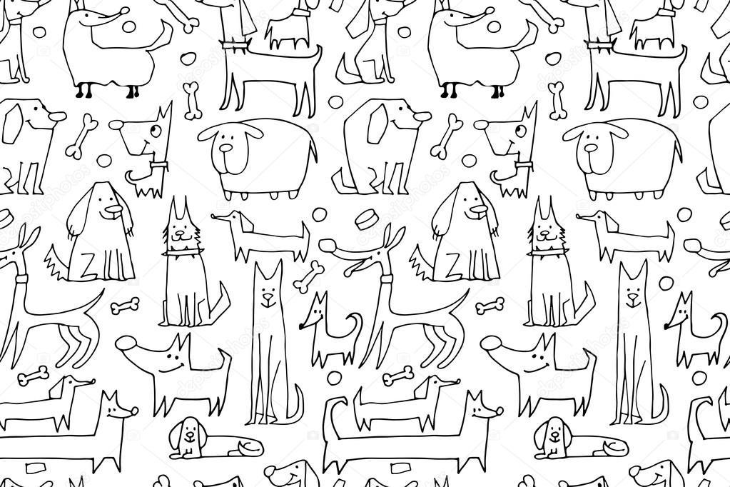lustige hundekollektion nahtloses muster für ihr design