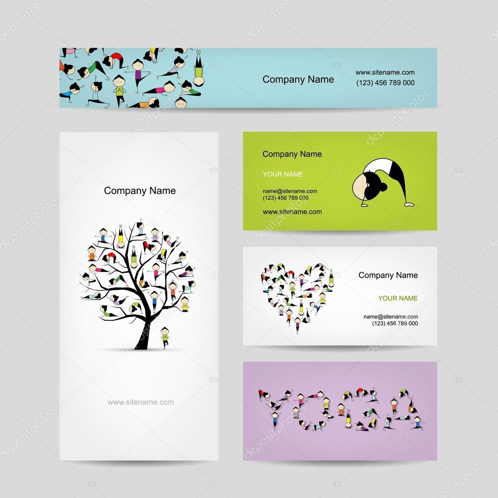 Business cards design yoga tree stock vector kudryashka 55241417 business cards design yoga tree vector vector by kudryashka magicingreecefo Choice Image